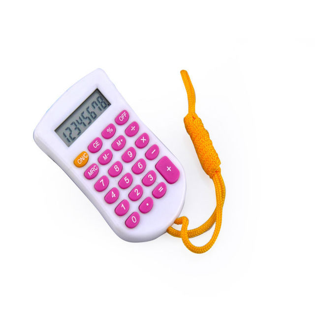 Customized 8 Digits Calculator with Lanyard, Small Gift Items