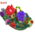 2018 new design mushroom inflatable playground inflatable obstacle course