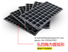 50 Cuttings HIPS Black Plastic Plant PropagationTrays, Young Seedlings Sprout Box Nursery Tray