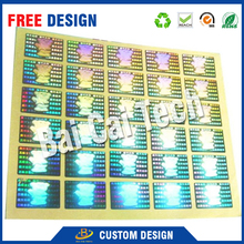 Reasonable price custom safe holographic cosmetic barcode labels