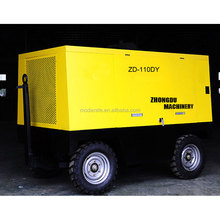 110KW/150HP Electric Portable Movable Screw Air Compressor