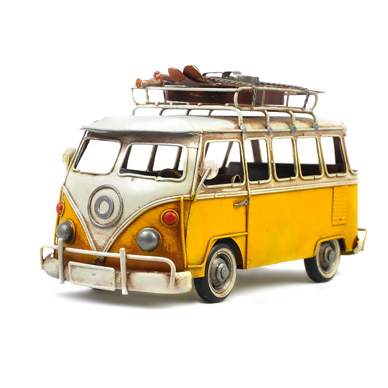 Die Cast Bus Model Antique Classic Handmade Retro Buses For Home/Cafe/Pub Decoration Or Gifts Old Fashion