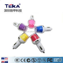 5V1A 5V2A flower car charger with beautiful appearance