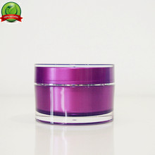 red acrylic cosmetic container 5m diamond shape jar plastic golden