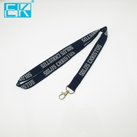 High quality promotional lanyard polyester fabric woven lanyard