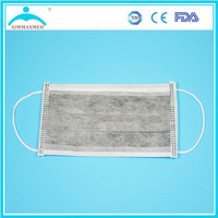 disposable 4 ply filter active carbon face mask