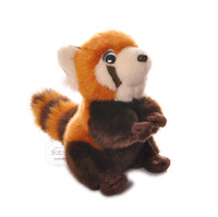 Free Shipping 18CM High Quality Red Panda Stuffed Animal Toys Kawaii Lesser Panda Plush Toys Dolls Christmas Gifts