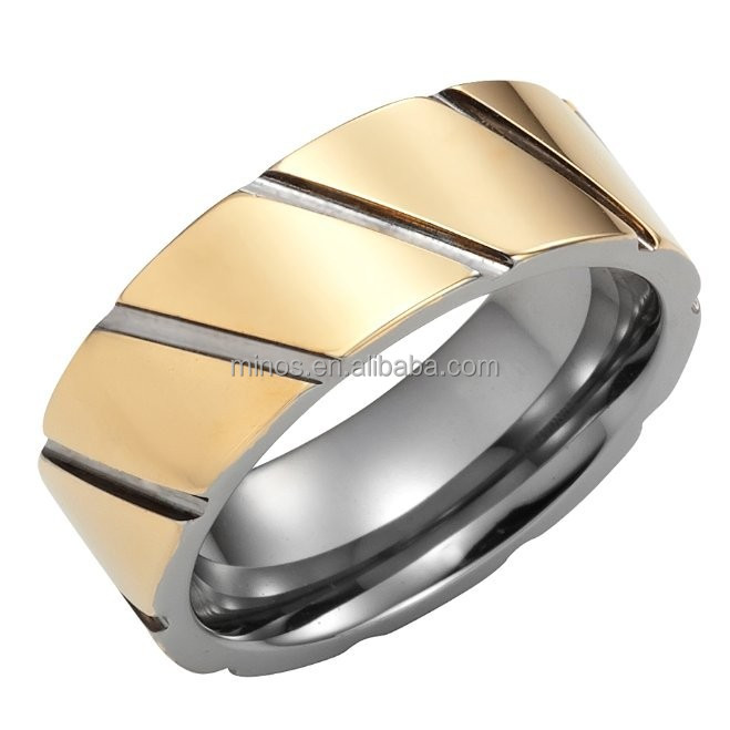 Golden Era Mens Tungsten Ring 8mm Wedding Band