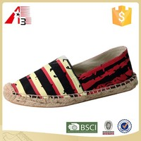 wholesale price fashion rope sole floral espadrilles women