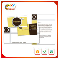 Gold supplier company high quality business design paper letters printing