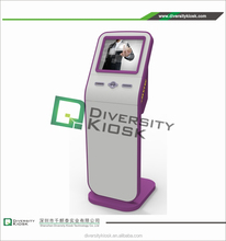 3g/wifi full hd split screen interactive magic all in one ir information kiosk dual display payment kiosk