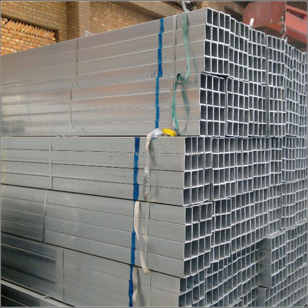 Building material Q195/Q235 erw welde hot dipping pre galvanized square structure steel pipe/tube