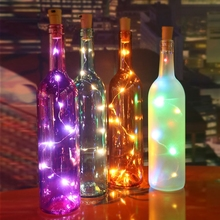 1M 2M Fairy Lights Bottle Glass Cork String Lighting Mini Micro Starry LED Bottle Lights For Bar Party Birthday Decoration