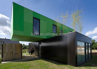 hot prefabricated steel faramed villas house prefabricated homes living 20ft container house
