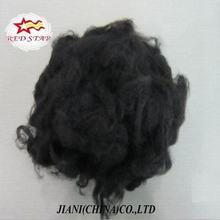 Regeneraed super black polyester staple fiber, polyester synthetic fiber for yarn,padding
