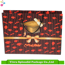 Yiwu Art Paper Bag Wholesale With PP Rope Handle Paper Bag Cord Handle