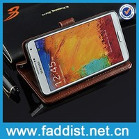 China suppliers pu leather mobile phone case for samsung galaxy note3