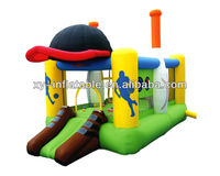 0.55mm PVC inflatable bouncy castle/inflatable sport bouncer combo