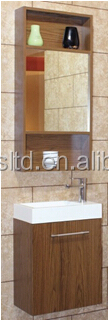 Bathroom Furniture with Mirror, Ceramic Basin and Bath Cabinet