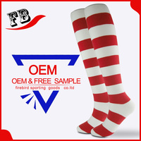 High Quality Wholesale Stripe Sock Cheap Custom Logo Sock Cotton Knitted Knee High Men Military Sock
