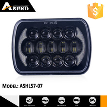 Newest style 21pcs brand chip LED 7'' square beautiful DRL headlight for off-road cars