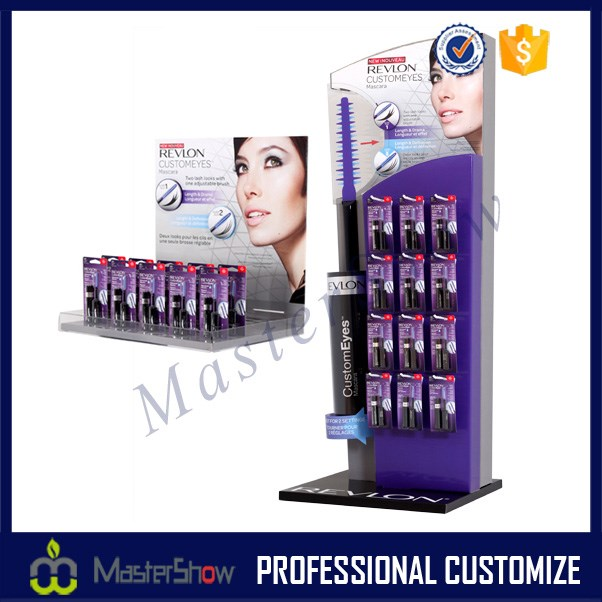 Hight Quality cardboard custom makeup display stands