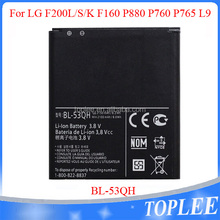 2016 High quality 2100mah new mobile phone battery bl-53qh for LG F200L/S/K F160 P880 P760 L9