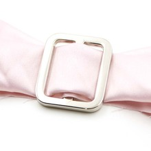 Silver adjustable ring buckle for strap