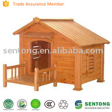 Lovely Wooden Dog House with Balcony
