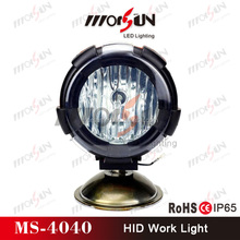 Morsun AUTO HID Driving Light,AUTO Runing Light 35w/55w, 9 Inch Super Bright Remote Area HID Work Light for Heavy Truck
