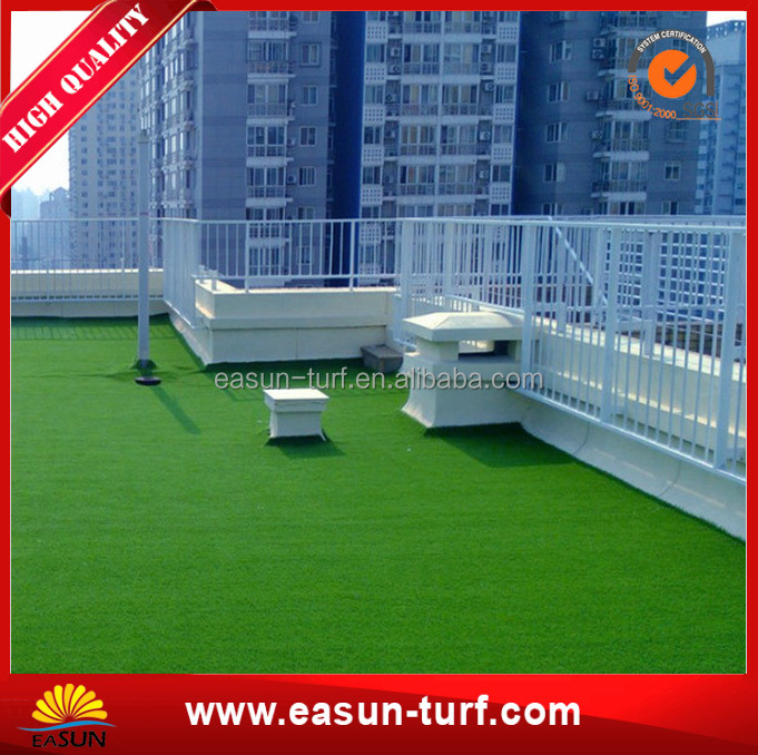 Natural looking roof top decoration artificial grass garden turf
