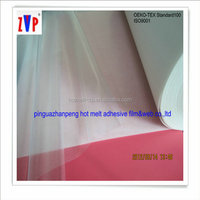 PO hot melt thermoplastic adhesive film for conductive cloth