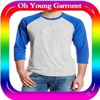 New Arrival Men t shirts Tops Tees men's Cotton t shirt Retro baseball long sleeves t shirt
