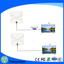 Super thin HDTV indoor flat tv antenna transparent with amplifier 50 mile