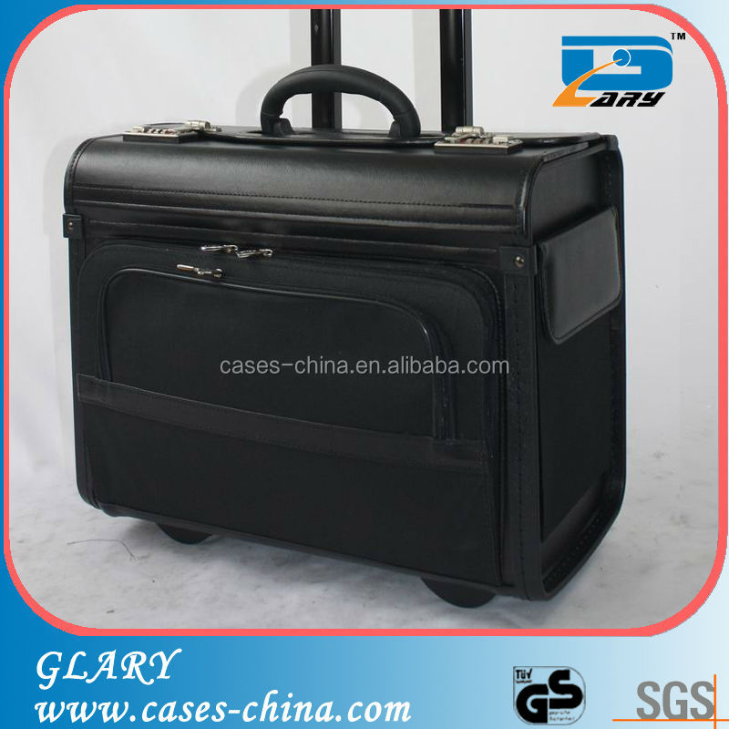 Trolley leather pvc travelling pilot case
