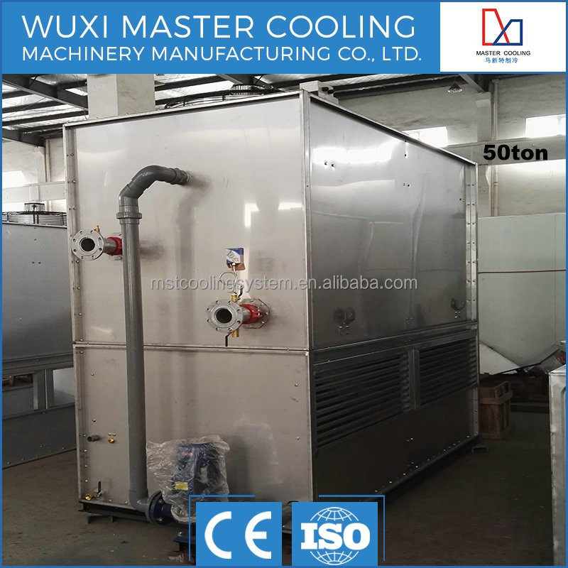 MST closed type heat exchange mini copper coil cooling tower for intermediate frequency furnace best price