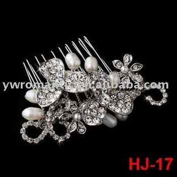 2012 fashion crystal bridal hair comb