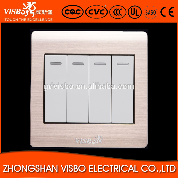 10A 250V 4 gang 2 way hotel light switch panel