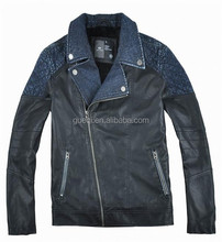 Good quality mens custom design yamaha leather jacket