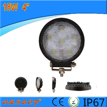 Factory wholesale 18w round led work light 4inch working light for tractor