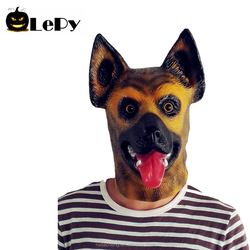 Halloween Cosplay Decorations Realistic animal full face latex Shepherd Dog head mask