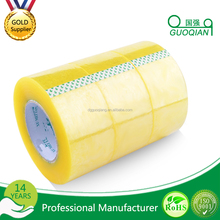 Strong Adhesive Waterproof Yellowish Bopp Packing Tape / Solvent Based Acrylic Yellow Bopp Tape