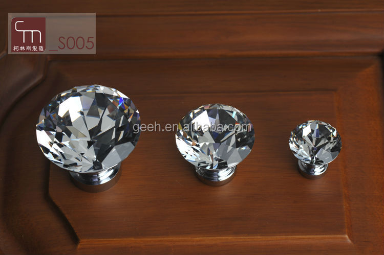 2014 hot sale The crystal of zinc alloy handles with wardrobe