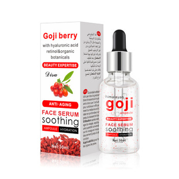 Skin Care ธรรมชาติ Goji Anti Aging Anti Wrinkle Whitening Face Hyaluronic Acid Serum