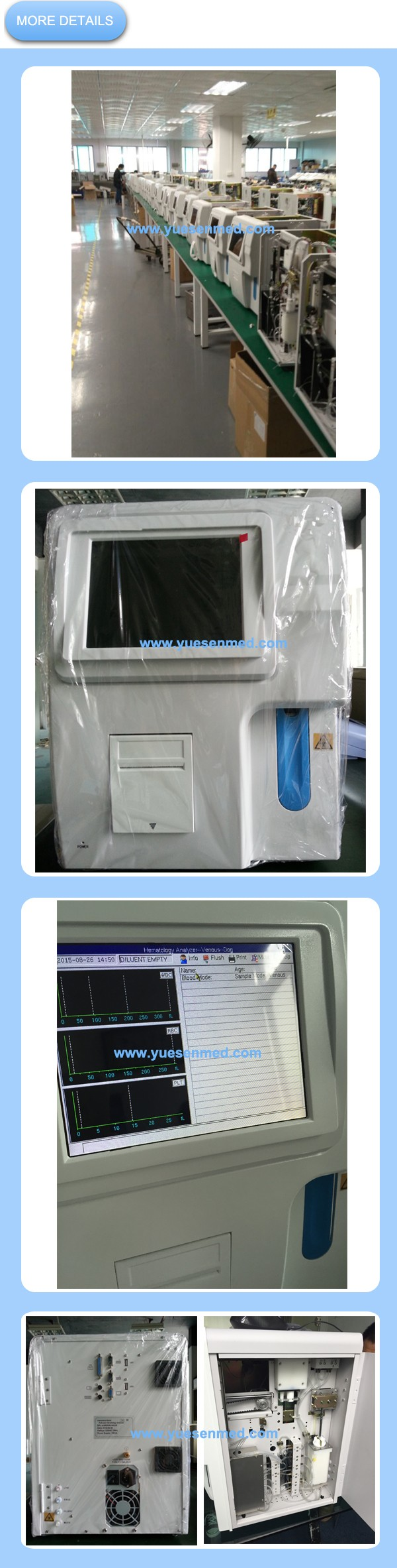 "Hot 8.4"" color TFT portable automatic blood hematology analyzer"