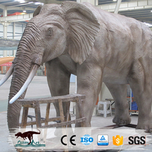OA22822 Elephant Statue Model Life Size Animal Sculpture
