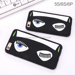 Amazing eyes silicone case for iPhone 6 6S, Cool design cover case for iPhone 6 plus 6S plus