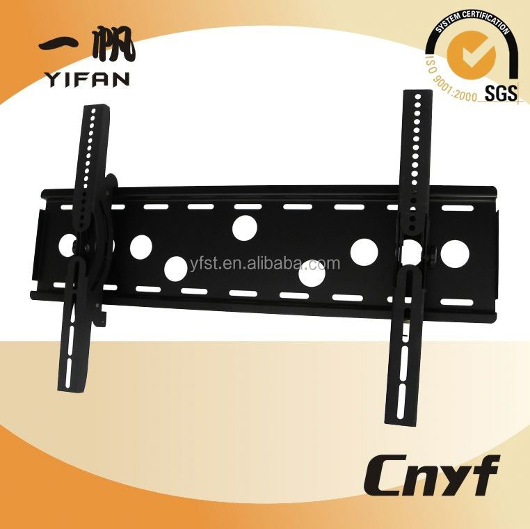 Most popular metal tilted sliding lcd mount tv bracket YFE004B for L