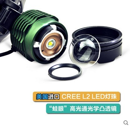 green black 2500lm zoomable rechargeable xm l t6 led. Black Bedroom Furniture Sets. Home Design Ideas