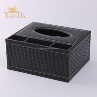 Hot Selling Amazon Faux Leather Car Tissue Box Holder